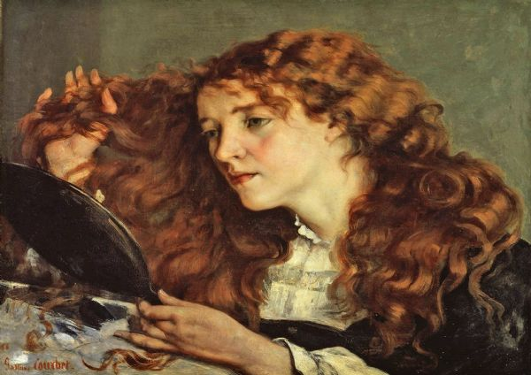 Courbet, Gustave: Jo, the Beautiful Irish Girl/Woman. Fine Art Print/Poster. Sizes: A4/A3/A2/A1 (00457)